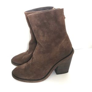 """Free people """"Marquis"""" suede heeled boots"""